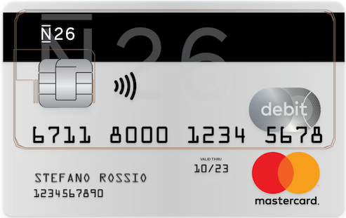 conto corrente n26-cards
