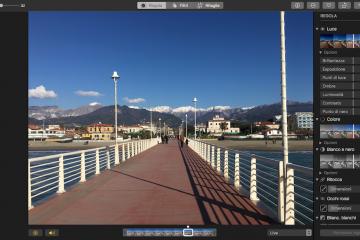 Foto l'applicazione multimediale del Mac