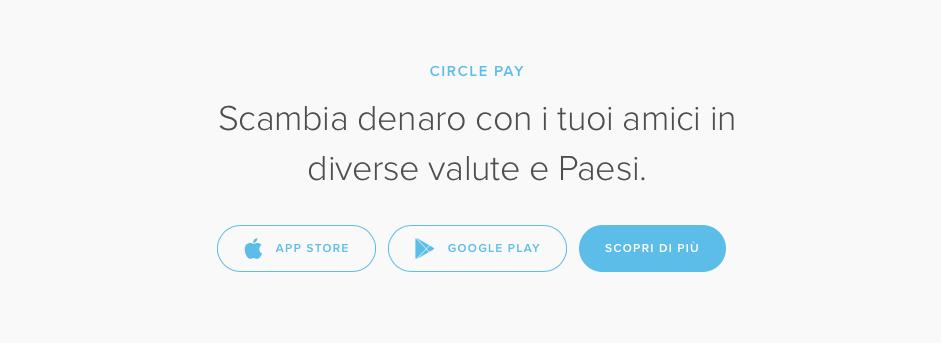 Circle Pay - pagamenti via app a costo zero