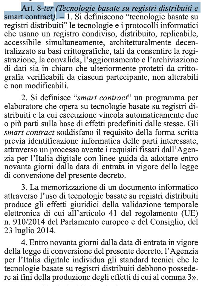 Blockchain la Consob da indicazioni all'Italia sulle normative europee