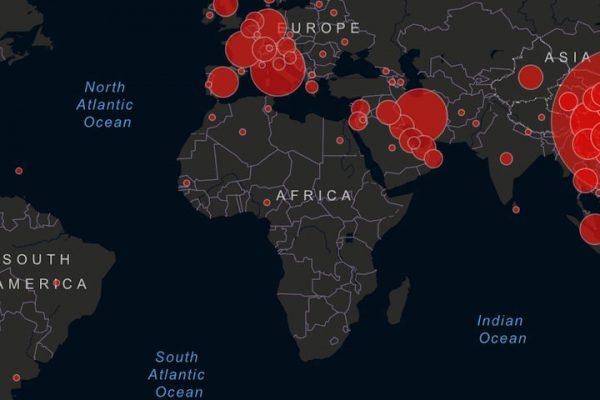 Coronavirus COVID-19 map