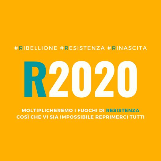 R2020 è un contenitore aperto e democratico di cittadini, gruppi, associazioni, comitati riuniti nell'obiettivo di creare INSIEME un fronte comune per riaffermare e tutelare i propri DIRITTI di libertà, dignità e autodeterminazione.